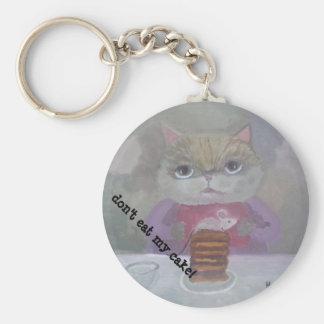 Porte-clés art de gâteau de chat et de souris