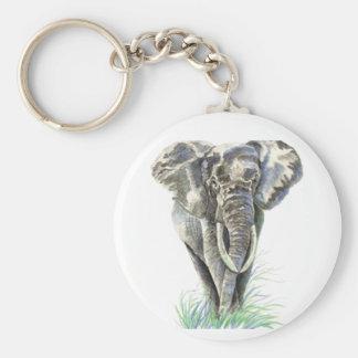 Porte-clés Art de nature animale d'éléphant africain