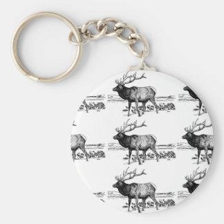 Porte-clés art de troupeau d'élans ouais