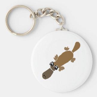Porte-clés Art drôle d'ornithorynque de Duckbill