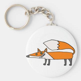 Porte-clés Art génial drôle de Fox rouge