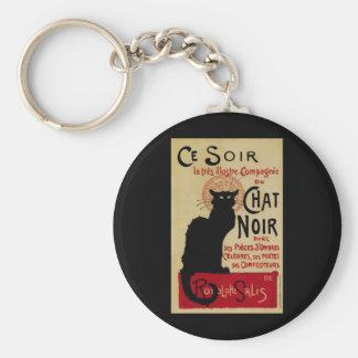 Porte-clés Art vintage Nouveau, Le Chat Noir