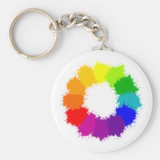 Porte-clés Artiste de roue de couleur et professeur d'art