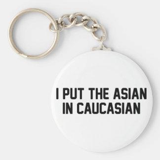 Porte-clés Asiatique dans le Caucasien