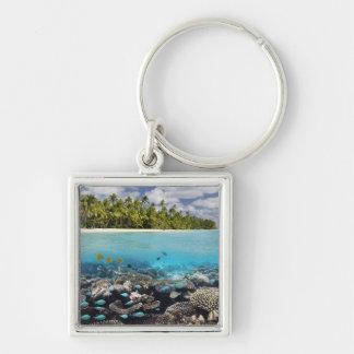 Porte-clés Atoll tropical d'Ari de sud de la lagune |