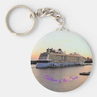 Porte-clés Aube de port de Nassau avec la coutume de bateau