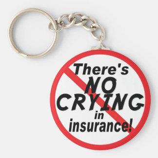 Porte-clés Aucun pleurer dans l'assurance