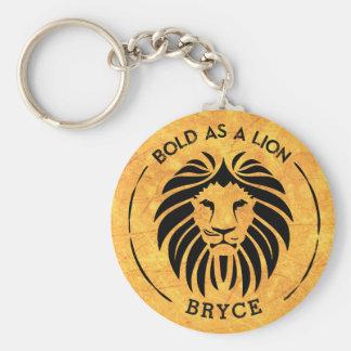 Porte-clés Audacieux comme porte - clé de lion