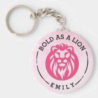 Porte-clés Audacieux comme porte - clé de lion, lion rose