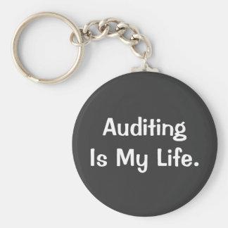 Porte-clés Auditer est ma vie - porte - clé de commissaire
