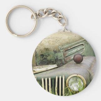 Porte-clés Automobile rouillée de véhicule d'antiquité de