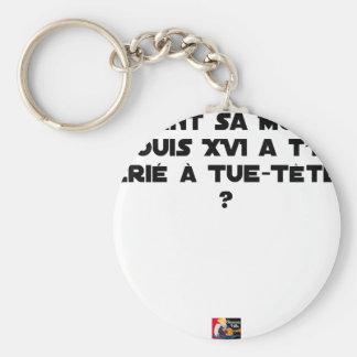 PORTE-CLÉS AVANT SA MORT, LOUIS XVI A-T-IL CRIÉ À TUE-TÊTE ?