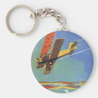 Porte-clés Avion antique vintage de voyage et de transport