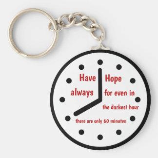 Porte-clés Ayez le porte - clé d'espoir toujours