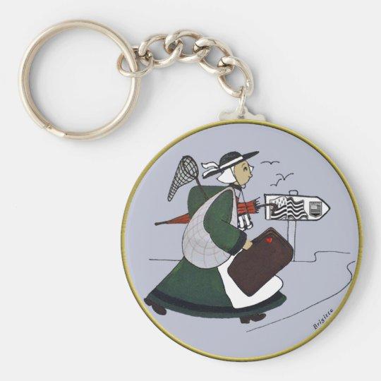 Porte-clés badge bécassine bretagne