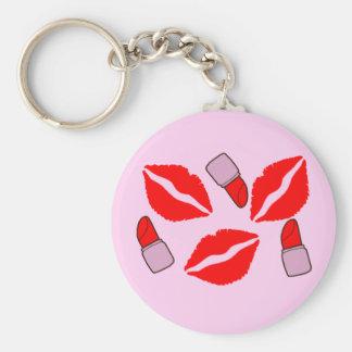 Porte-clés baisers et rouges à lèvres