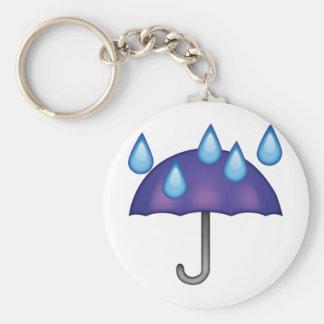 Porte-clés Baisses de pluie de parapluie - Emoji