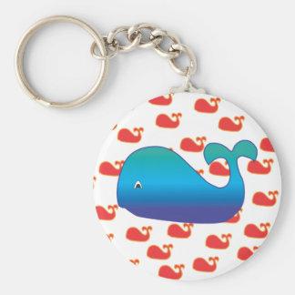 Porte-clés Baleine bleue