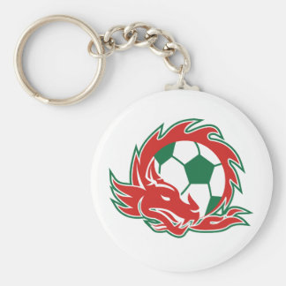Porte-clés Ballon de football de dragon de Gallois