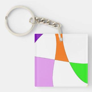 Porte-clés Ballons colorés abstraits