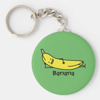 Porte-clés Banane qui sourit, fixant et détendant