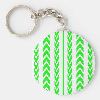 Porte-clés Bande de roulement verte de pneu