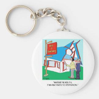 Porte-clés Bande dessinée 9233 de bâtiment