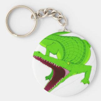 Porte-clés bande dessinée d'alligator