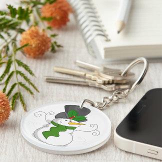 Porte-clés Bande dessinée de fête de bonhomme de neige de
