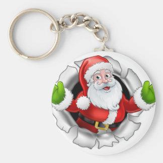 Porte-clés Bande dessinée de Père Noël déchirant par un