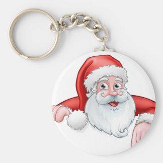Porte-clés Bande dessinée de Père Noël se dirigeant vers le