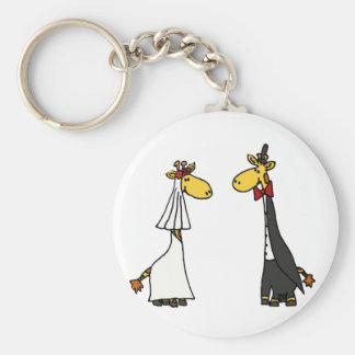 Porte-clés Bande dessinée drôle de mariage de jeunes mariés