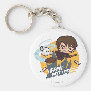 Porte-clés Bande dessinée Harry et vol de Hedwig après