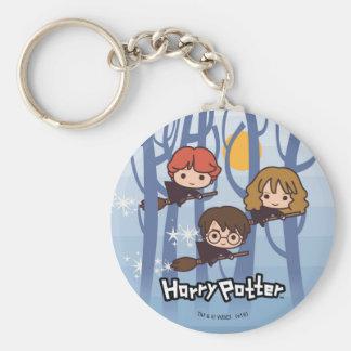 Porte-clés Bande dessinée Harry, Ron, et vol de Hermione en