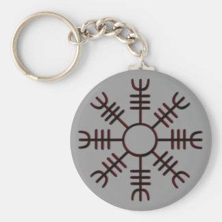 Porte-clés Barre de porte - clé rouge de lueur de crainte