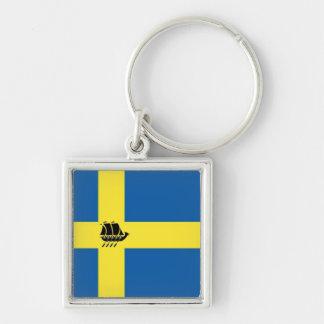 Porte-clés Bateau de Viking de Suédois avec le drapeau de la
