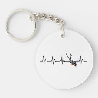 Porte-clés Battement de coeur de plongée à l'air de dames