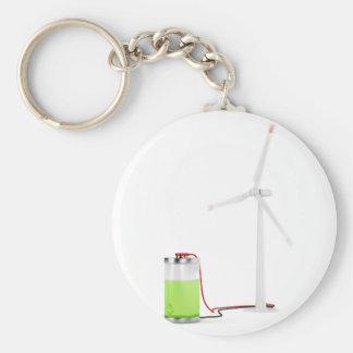 Porte-clés Batterie de remplissage avec la turbine de vent