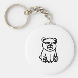 Porte-clés bear_glasses_hd_space