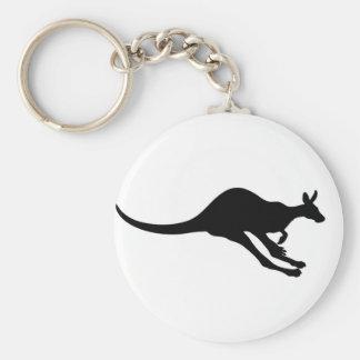 Porte-clés beau heureux de bébé de kangourou de joie animale