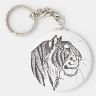 Porte-clés Beau porte - clé de dessin de tigre