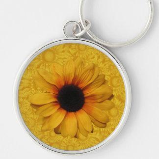 Porte-clés Beau porte - clé jaune de tournesols