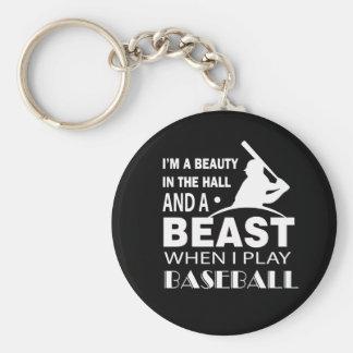Porte-clés Beauté en bête de Hall quand base-ball de jeu