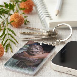 Porte-clés Bébé de sourire d'orang-outan d'animaux