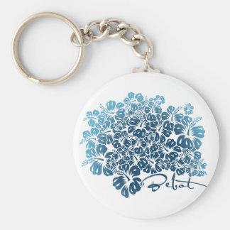 Porte-clés Bebot - ketmie - bleu