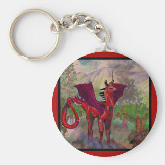 Porte-clés Bête à ailes par batte rouge de Pegasus de licorne