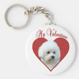 Porte-clés Bichon Frise mon Valentine - porte - clé