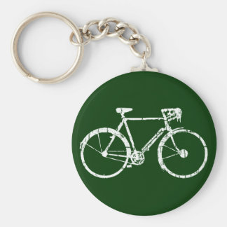 Porte-clés bicyclette blanche