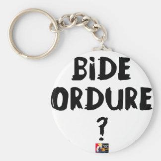 Porte-clés BIDE ORDURE ? - Jeux de Mots - Francois Ville