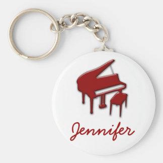 Porte-clés Blanc avec le cadeau rouge d'étudiant de